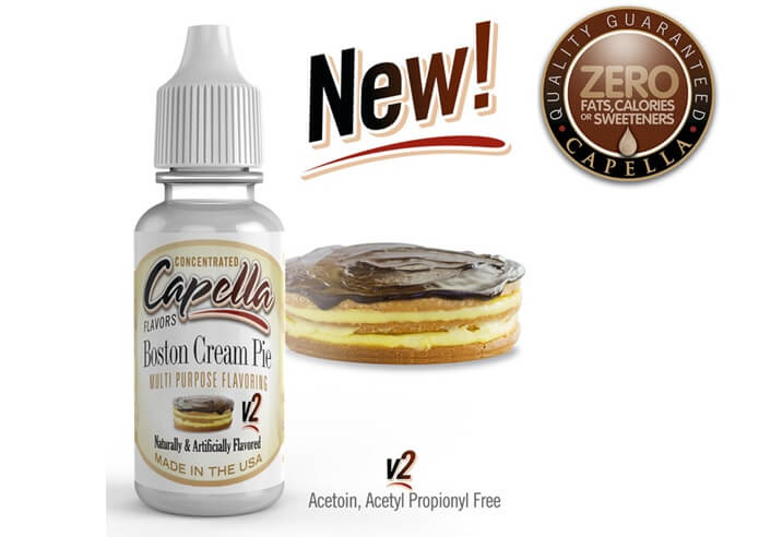 capella flavors Boston Cream Pie v2画像