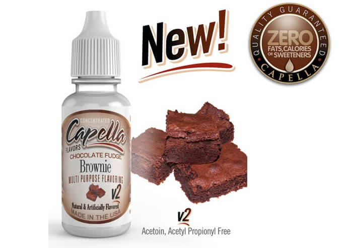 capella flavors Chocolate Fudge Brownie v2画像