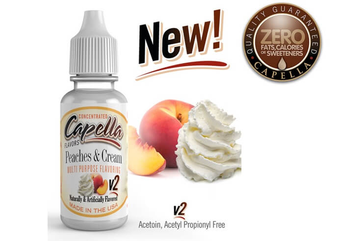capella flavors Peaches and Cream v2 画像
